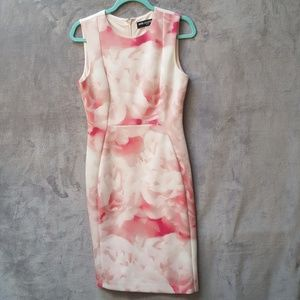 Karl Lagerfeld pink and white floral print dress.